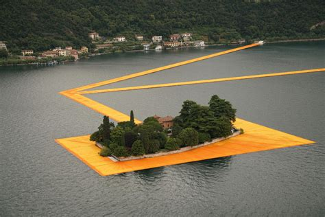 floating piers christo s floating piers a gold path through the water in