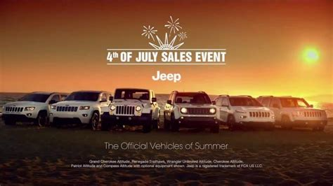 jeep summer sales event 2015 jeep latitude tv commercial 2015 fourth of
