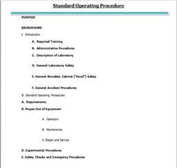 sop template word 37 best free standard operating procedure sop templates