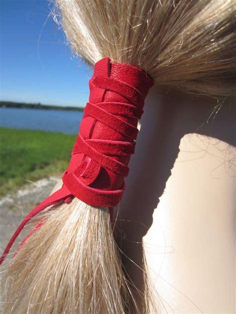 black leather hair wrap ponytail holder hair jewelry boho 22 best leather hair wraps images on pinterest hair