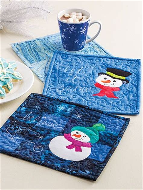 Mug Rugs To Make by Learn To Make Quilted Mug Rugs Mug Rugs Place Mats