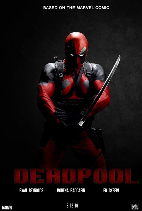 film marvel deadpool deadpool movie poster by chronoxiong on deviantart