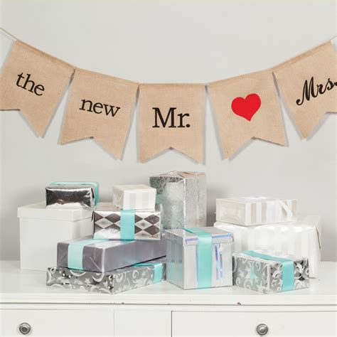 Wedding Banner Mr And Mrs by The New Mr And Mrs Burlap Banner Invitations By