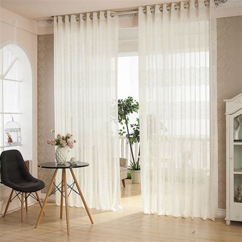 european sheer curtains european white embroidered voile curtains bedroom sheer