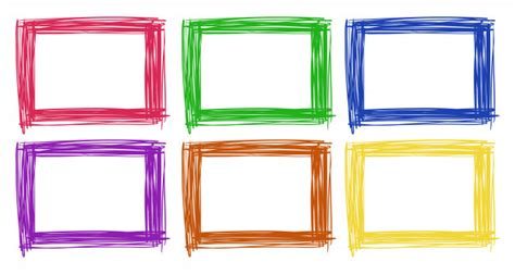 design picture frame online frame design in six color vector free download