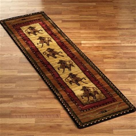 western rug runners delectably yours rawhide western roping cowboy rugs collection