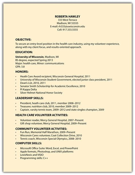 Easy Simple Resume Template by Exles Of Resumes Simple Resume Sle Without