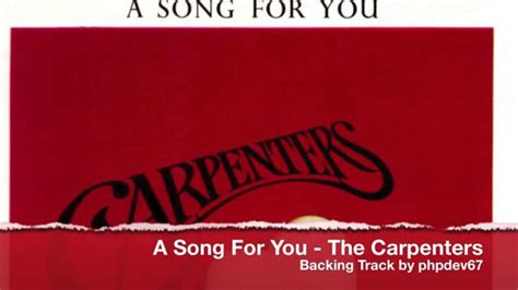 a song for you a song for you the carpenters instrumental cover by