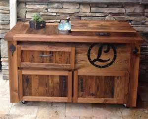 Outdoor Bar Cabinet Barn Wood Bars Tables Cabinets Rustic Outdoor Serving Carts