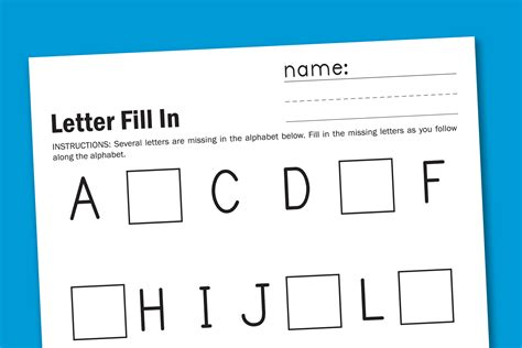 alphabet fill in paging supermom