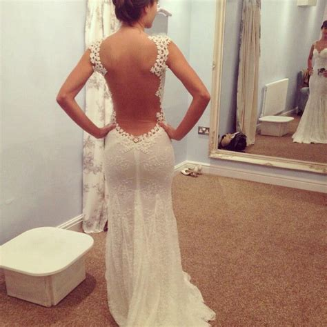 Cinara Dress wow whole open back wedding dress back