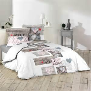 parure de lit 2 personnes imprim 233 e sweet home linge de lit