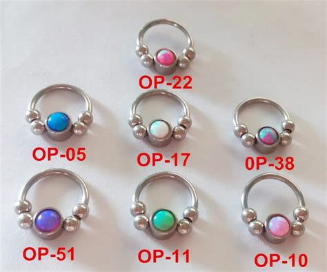 captive bead septum silver captive bead circular barbell septum piercing 16g