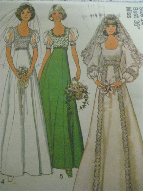 wedding dress pattern making books vintage 70 s simplicity 6940 wedding dress bridal gown