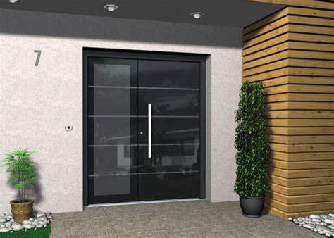 Haustüren Holz Alu bilderwand esszimmer design