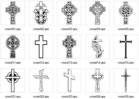 different types of crosses pointing to jesus