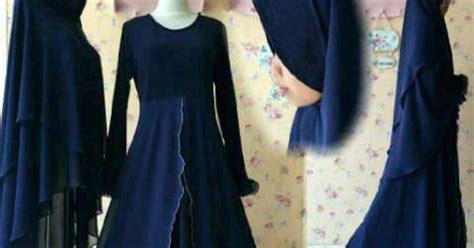 Quin Dress Navy Baju Hijabers aprianti collection rabia dress navy baju hijabers