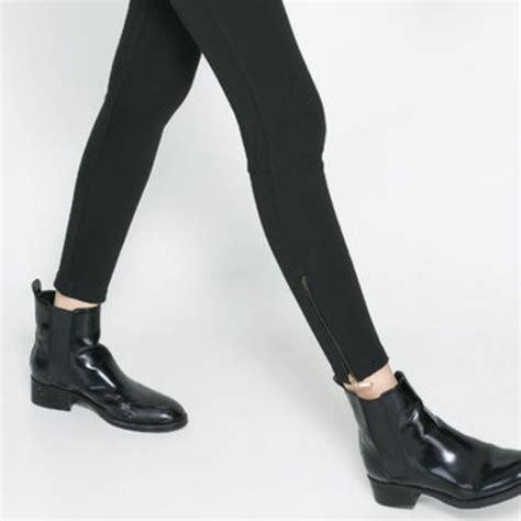 56 zara boots on trend black patent zara flat