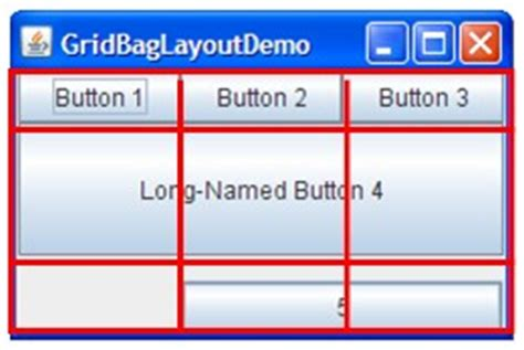 swing gridlayout how to use gridbaglayout the java tutorials gt creating a