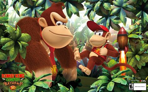 Kaset Kong Country Returns 3d 3ds kong country wallpapers wallpaper cave
