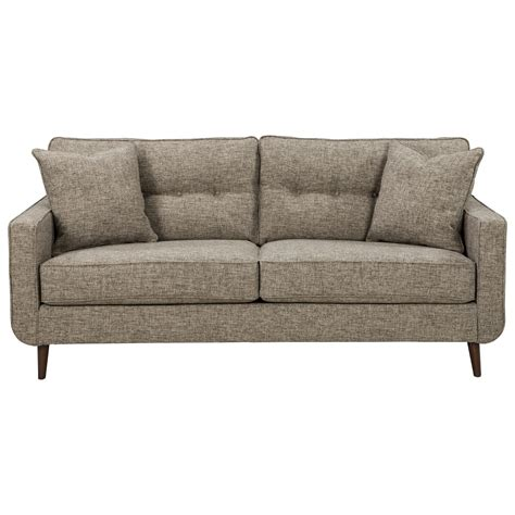 benchcraft furniture benchcraft dahra mid century modern sofa rooms and rest