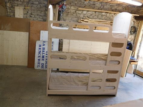 lit 3 etage lasure blanche vercors literie