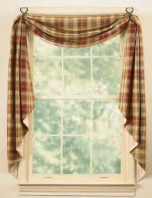 Fishtail Swag Curtains Window Curtain Fishtail Swag Lined Saffron By Park Designs Burgundy Green Ebay