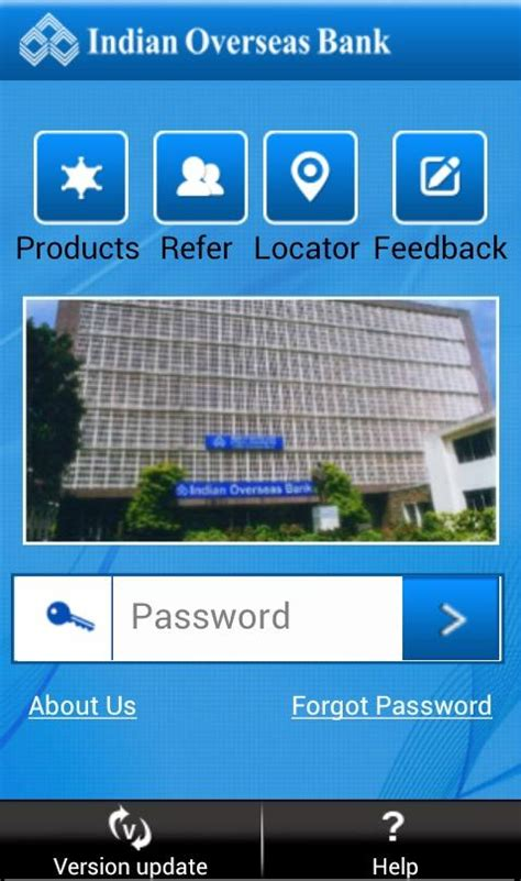 indian overseas bank netbanking iobmobile android apps on play