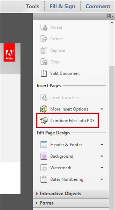 Combine Adobe Documents