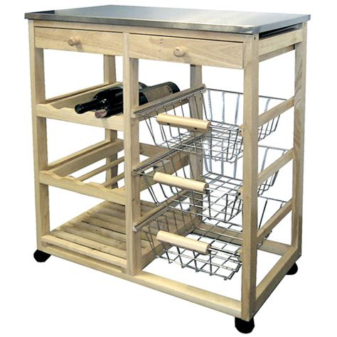 kitchen islands carts wayfair ore furniture kitchen cart with stainless steel top