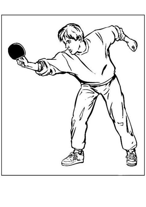 jeux de tennis de table gratuit coloriage jeux olympique tennis de table 24 coloriage en