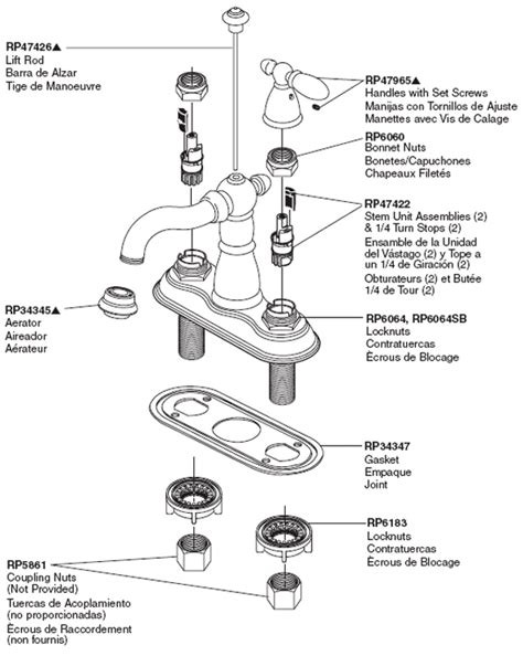 Delta Kitchen Faucet Repair Instructions plumbingwarehouse com delta bathroom faucet parts for