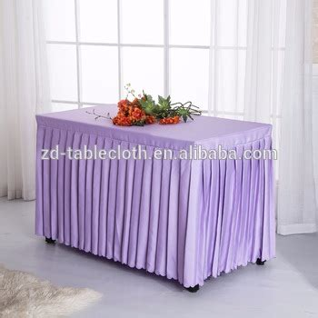 cheap polyester table skirts cheap purple polyester fabric square pleated table cloth