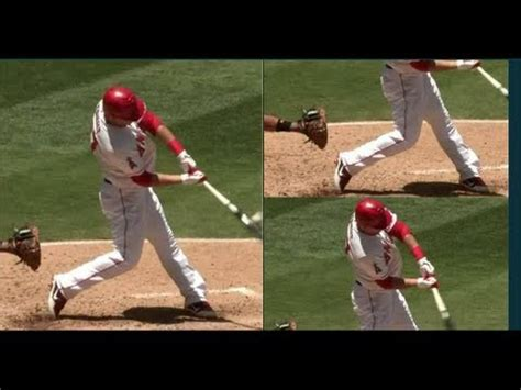 mike trout swing analysis mike trout baseball swing analysis slow motion hitting