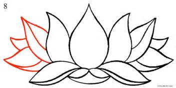 How To Draw Lotus Flowers How To Draw Lotus Flower Step By Step Pictures Cool2bkids