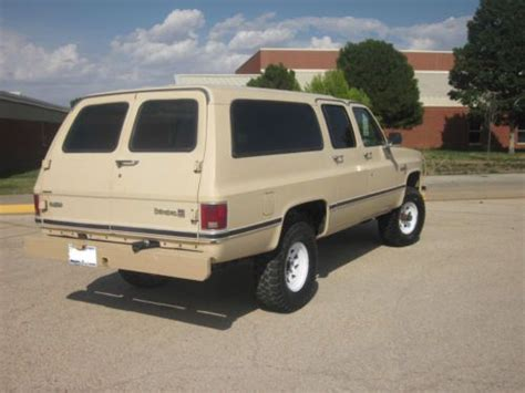 Purchase Used 1984 Chevy Suburban 4x4 In Midland