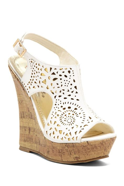 Wedges Laser 3 nanti laser cut wedge sandal just wish i didn t trip in shoes like this clothes and hair