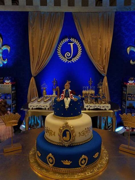 blue gold themes ideas prince birthday party ideas birthdays birthday party