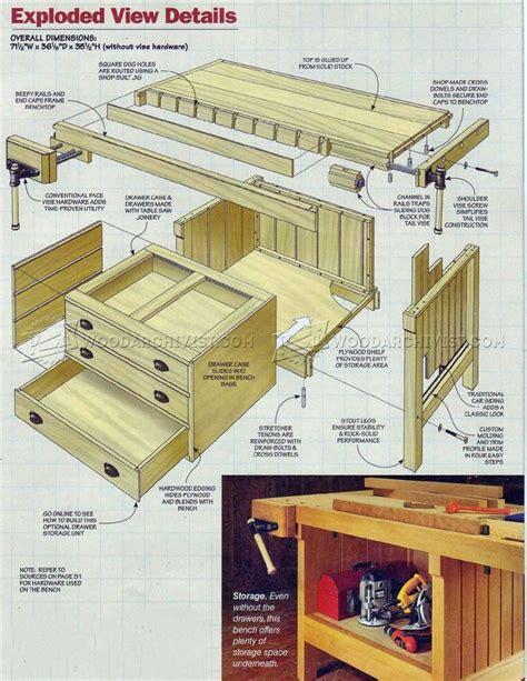 cabinet makers bench plans cabinet makers workbench plans woodarchivist