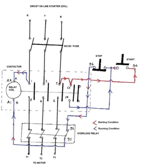 dol starter diagram power engineering dol starter