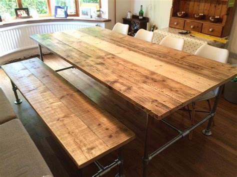 board table plans scaffold dining table and bench reclaimed scaffold board