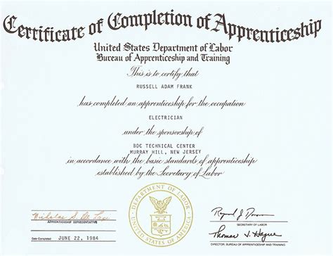 rf electric certificates education