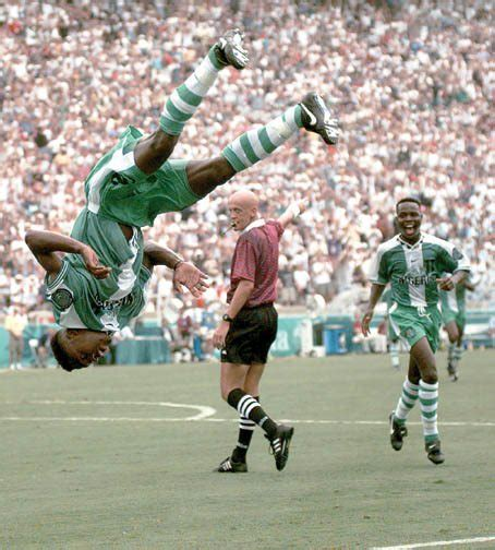 celestine babayaro goal photo celestine babayaro celebrates his goal at the olympics jacob daramola s