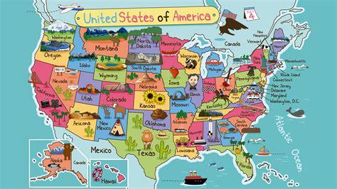 map de mexico y usa mapa de estados unidos con dibujos