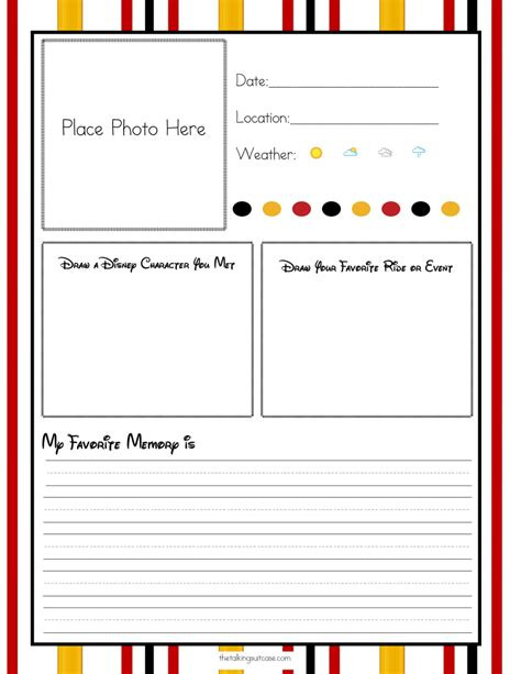 printable disney day planner get ready for your disney vacation free printable disney