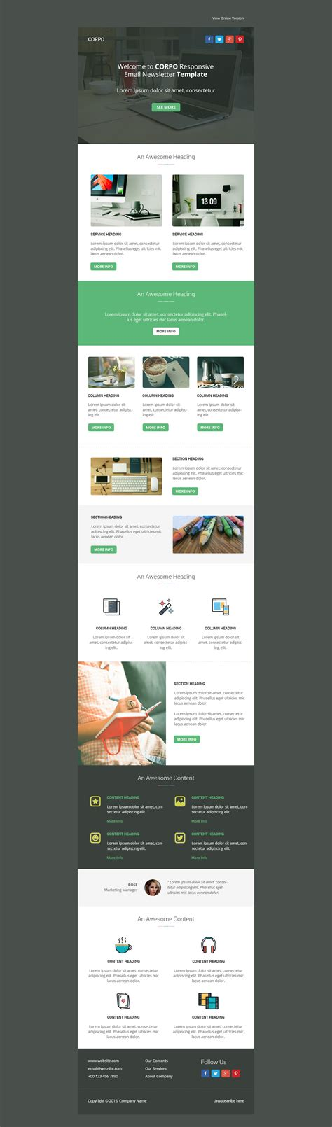 themeforest email templates multipurpose email template designed for general