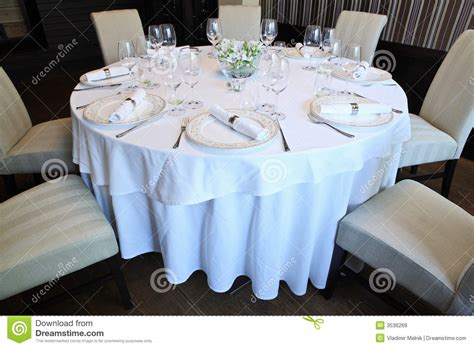 fancy place setting fancy table set for a dinner royalty free stock