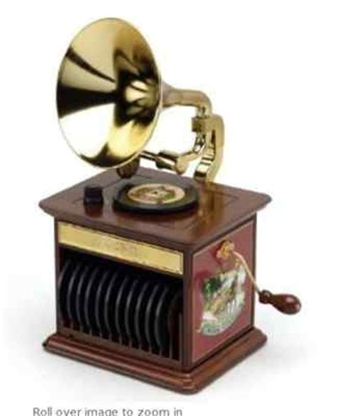 mr christmas harmonique gramophone music box new