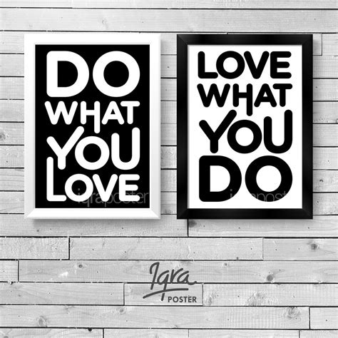 jual set  poster bingkai motivasi    love
