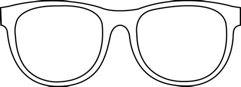 free coloring pages of sunglasses template